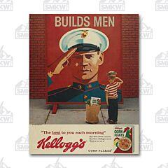 Kellogg's Builds Men Tin Sign