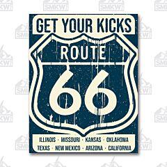 Route 66 States Tin Sign