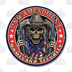 Original Homeland Security Tin Sign