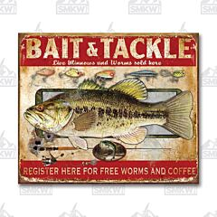 Bait & Tackle Tin Sign