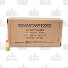 Winchester Service Grade 40 S&W 165 Grain Full Metal Jacket 50 Rounds