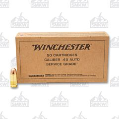 Winchester Military Service Grade 45 ACP AUTO 230 Grain Full Metal Jacket 50 Rounds