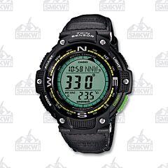 Casio Men's Twin Sensor Digital Nylon Compass Sport Watch, Green Accents SGW100B-3A2
