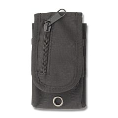 """Black MOLLE Compatible Sheath Holds up to 4"""" Closed Pocket Knife Model SH1074"""