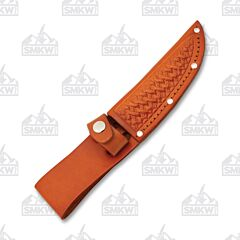"""4"""" Brown Leather Straight Knife Sheath"""