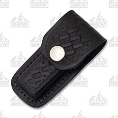 "3"" Black Leather Basket Weave Sheath"