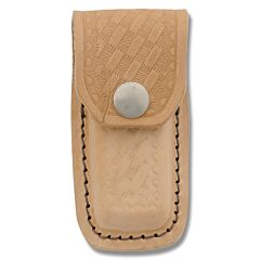 """Leather Fixed Blade Belt Sheath Fits Up To 3"""" Knife"""