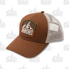 SMKW Logo Brown and Gray Mesh Back Hat