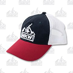 SMKW Logo Hat Navy White Red