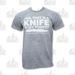 SMKW Yes That's a Knife T-Shirt Gray