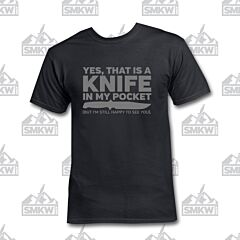 SMKW Yes That's a Knife T-Shirt Black Small
