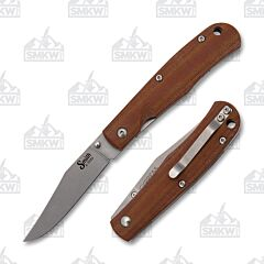 Smith & Sons Cypress Trapper D2 Blade Natural Micarta Handle