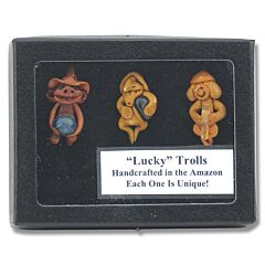 Lucky Hand Crafted Troll Collection Set of 3