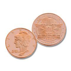 One Ounce Mercury Dime Copper Round
