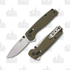 SOG Green Terminus XR D2 Tool Steel Blade G10 Handle