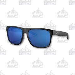 Costa Spearo XL Matte Black Sunglasses Blue Mirror