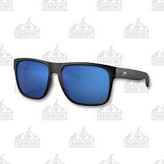 Costa Spearo XL Matte Black Sunglasses Blue Mirror Plastic