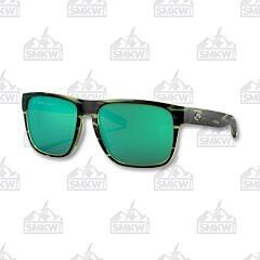 Costa Spearo XL Matte Reef Sunglasses Green Mirror Polarized Plastic