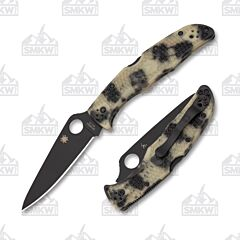 Spyderco Endura 4 Zome Glow In The Dark Black Blade