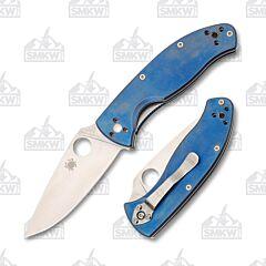 Spyderco Tenacious Blue Titanium