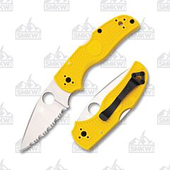 Spyderco Native 5 Salt Folding Knife LC200N Steel Blade Fiber Reinforced  Nylon Handle