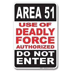 Area 51 Tin Sign