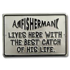 Best Catch Tin Sign