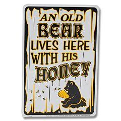 An Old Bear Tin Sign
