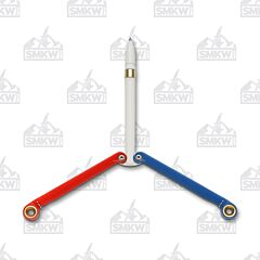 Spyderco BaliYo Red, White and Blue Butterfly Pen with Red, White and Blue Polymer Handle with Fisher Space Pen Ink Cartridge Model YUS100