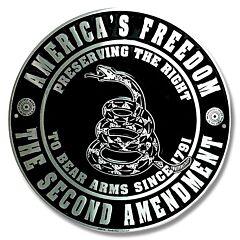 2nd Amendment Round Tin Sign