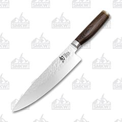 "Shun Premier 8"" Chef's Knife VG-MAX Damascus Blade Pakkawood Handle"