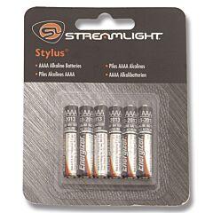 "StreamLight Stylus ""AAAA"" Alkaline Batteries - 6pk"