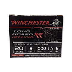 "Winchester Long Beard XR Turkey 20 Gauge 3"" 1-1/4oz #6 Shot 10 Rounds"