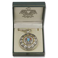 Native American Goldtone Pocket Watch