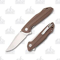 Tuyaknife Bruiser Brown G-10