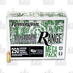 Remington Range Ammo 9mm Luger 115 Grain Full Metal Jacket 250 Rounds