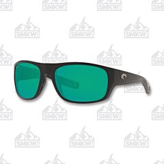 Costa Tico Matte Black Green Mirror Sunglasses