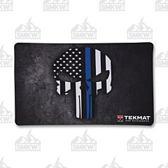 TekMat Gun Cleaning Mat Punisher Blue Line