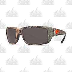 Costa Fantail Sunglasses Realtree XTRA Camo Plastic Frame Gray Polarized Plastic Lenses