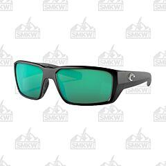 Costa 580G Fantail Pro Matte Black Sunglasses Green Mirror