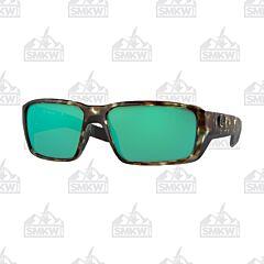 Costa Fantail Pro Matte Wetland Green Sunglasses Green Mirror