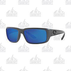 Costa Fantail Matte Gray Sunglasses Blue Mirror