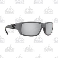 Costa Fantail Pro Matte Gray Sunglasses Gray Mirror Plastic