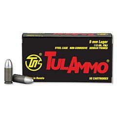 TulAmmo 9mm 115 Grain Full Metal Jacket 900 Rounds