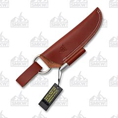 TOPS Bushcraft Leather Sheath Brown Right Hand