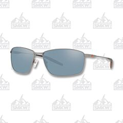 Costa Turret Matte Silver Sunglasses