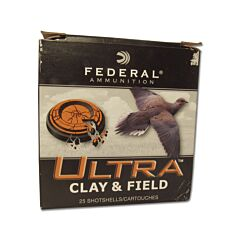 "Federal Ultra Clay 20 Gauge 1oz 2.75"" #8 Shellshot 25 Rounds"