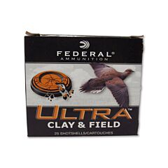 "Federal Ultra Clay & Field 12 Gauge 2-3/4"" 1-1/8oz #9 Shot 25 Rounds"