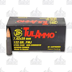 TulAmmo 7.62x39mm 122 Grain Full Metal Jacket 40 Rounds
