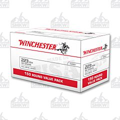 Winchester USA Ammo 223 Remington 55 Grain Full Metal Jacket 150 Rounds Bulk Packed
